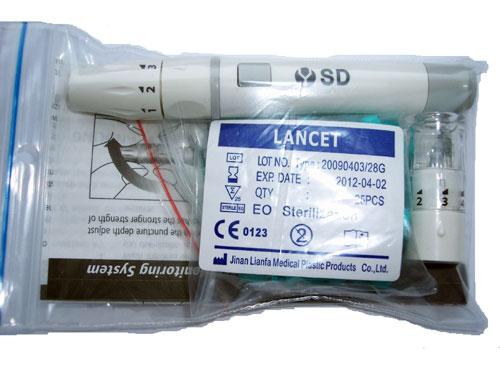 SD odběrové pero (autolanceta), vč.25ks jehel