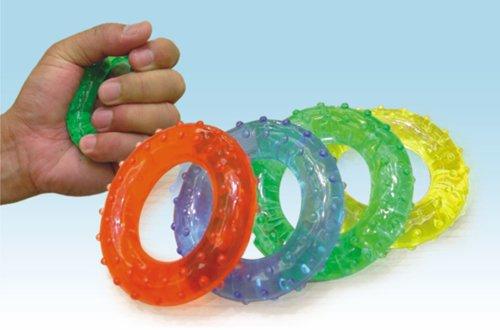 Kroužky gelové. posilovací - masážní Gymy, 7cm -Červené (SLABÉ)