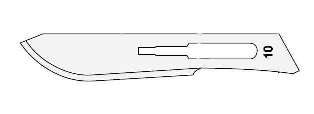 ČEPELKA skalpelová č.10 sterilní 1ks SURGEON