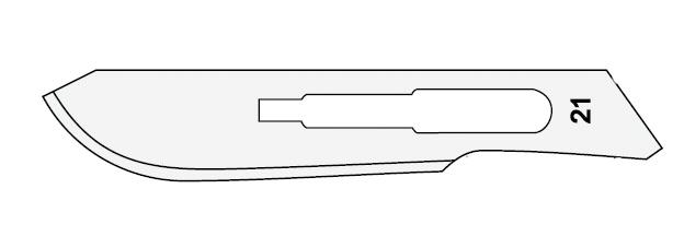 ČEPELKA skalpelová č.21 sterilní 1ks SURGEON