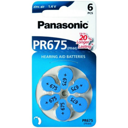 Baterie Panasonic PR-675 (PR44), 6ks