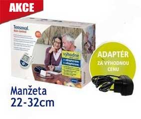 Tensoval Duo Control II, manžeta 22-32cm +síťový zdroj NAVÍC !