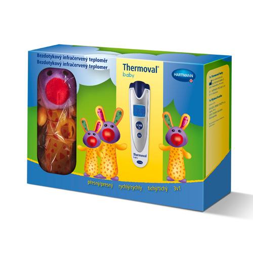 Teploměr THERMOVAL Baby bezdotykový infračervený +dárek plyšová hračka