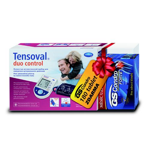 Tensoval Duo Control II, manžeta: 22-32cm +Dárkové balení GS Condro forte (180ks tablet)