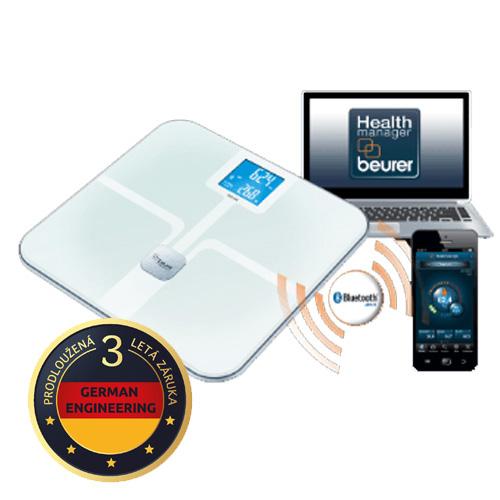 Beurer BF 800 (bílá) osobní a diagnostická váha s Bluetooth připojením