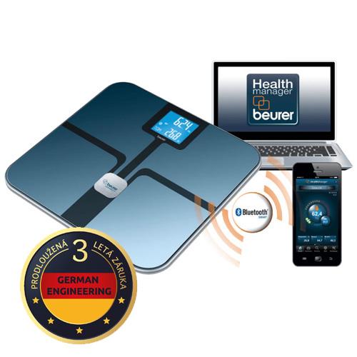 Beurer BF 800 (černá) osobní a diagnostická váha s Bluetooth připojením