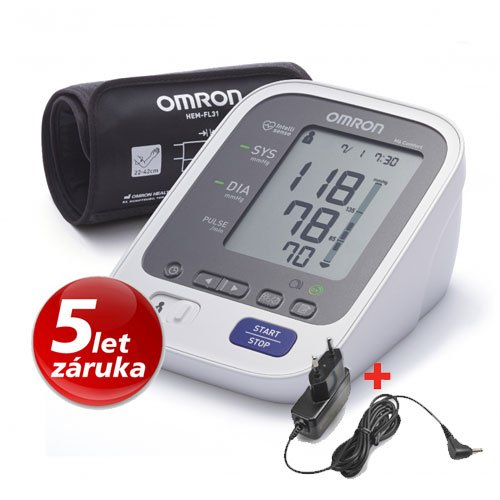 Tonometr OMRON M6 Comfort Intelli - záruka 5 let! +adaptér (výhodný SET)